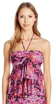 Kenneth Cole Reaction Women's Scarfs On Deck Tiered Tankini