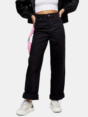 Topshop Zed Mom Jeans- Black