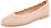 French Sole Teacup Laser-Cut Leather Flat