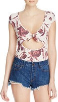 Free People Wowzers Floral Bodysuit