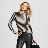 Women's Metallic Stripe Crew - Who What Wear