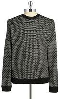 HUGO BOSS Tonal Wool and Cotton Sweater