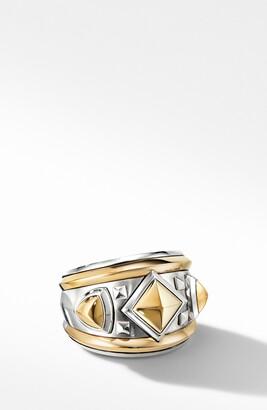 David Yurman Bold Renaissance Wide Ring with 18K Yellow Gold