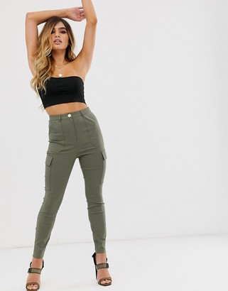 ASOS DESIGN skinny fit pants with pocket detail