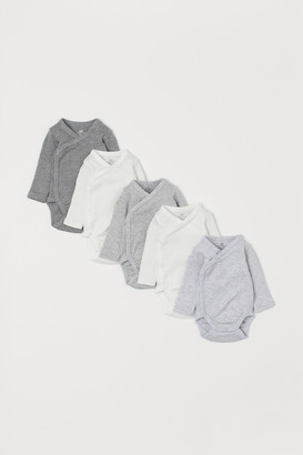 H&M 5-pack Wrapover Bodysuits - Gray