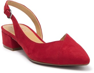Naturalizer Frisco Pointed Toe Slingback Low Block Heel