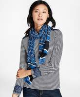 Brooks Brothers Foulard Silk-Cotton Oblong Scarf