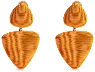 Rebecca De Ravenel Tahiti Triangle Clip-On Earrings