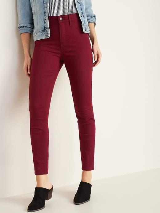 Old Navy High-Rise Secret-Slim Pockets Pop-Color Rockstar Super Skinny Jeans for Women