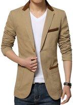 MRSMR Casual Men's Slim Fit Blazer Jacket Two Button Lapel Suit
