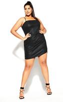 City Chic Sin City Dress - black