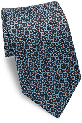 Eton Blue Printed Medallion Tie