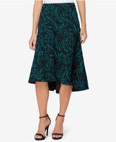 Catherine Malandrino Rosa Jacquard High-Low A-Line Skirt