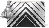 Anya Hindmarch Georgiana metallic textured-leather clutch
