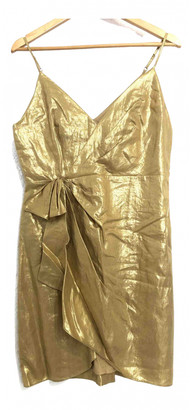 Sandro Spring Summer 2020 Gold Linen Dresses