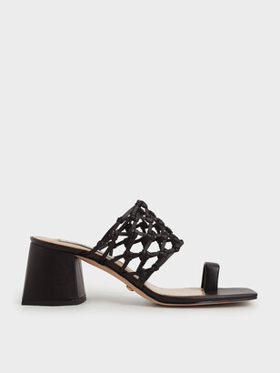 Charles & Keith Limited Edition: Woven Toe Ring Sandals