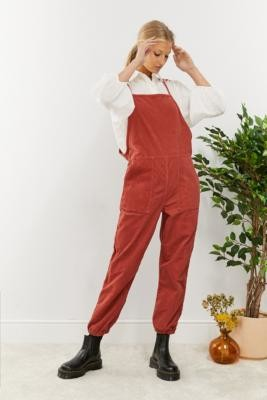 Urban Outfitters Misty Corduroy Jumpsuit - Red M at
