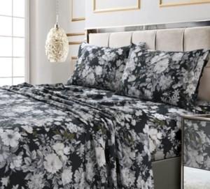 Tribeca Living Vernazza Printed 300 Tc Cotton Sateen Extra Deep Pocket Queen Sheet Set Bedding