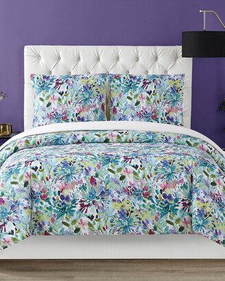Christian Siriano Ny Dahlia 3Pc Duvet Cover Set