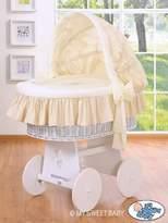 My Sweet Baby Sleeping Bear Wicker Crib Moses Basket (Cream)