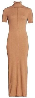 STAUD Alpine Knit Midi Sheath Dress