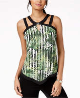 Thalia Sodi Printed Hardware-Embellished Top, Created for Macy's