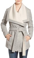 BCBGeneration Belted Two-Tone Wrap Jacket