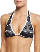 Letarte Skull Lace Bikini Swim Top