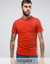 Barbour T-Shirt With International Logo Print Slim Fit In Orange