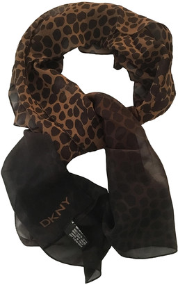 Donna Karan Brown Silk Scarves