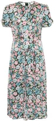 Marc Jacobs Floral silk jacquard midi dress