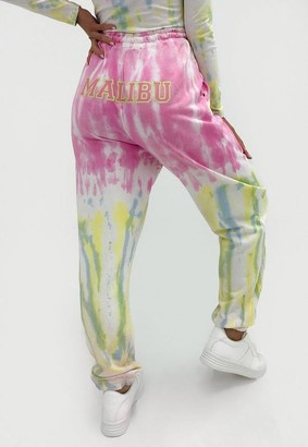 Missguided Co Ord Malibu Tie Dye Joggers