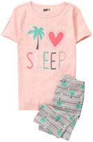 Crazy 8 I Love Sleep 2-Piece Shortie Pajama Set