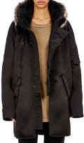 Adidas Originals by Kanye West Women's Faux-Fur-Trimmed Oversized Parka
