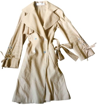 See by Chloe Camel Linen Coat for Women