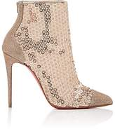 Christian Louboutin Women's Gipsybootie Glitter Mesh Ankle Booties