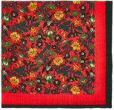 Barneys New York Men's Floral Wool-Cashmere Pocket Square