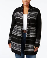 Style&Co. Style & Co Plus Size Jacquard Open Cardigan, Only at Macy's
