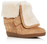 Ash Brendy Shearling Hidden Wedge Booties