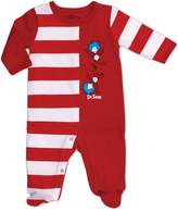 Bumkins Dr. Seuss Footed Sleeper, 6 Months, Stripe