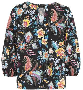 Etro Floral cotton blouse