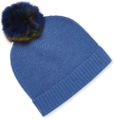 Qi Women's Cashmere Shaker Stitch Hat