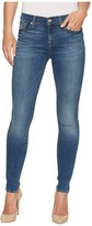 7 For All Mankind Skinny Jeans w/ Squiggle in Rich Coastal Blue Women's Jeans