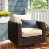 BEIGE Barwick Swivel Patio Chair with Cushions Sol 72 Outdoor Color