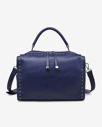 Express Urban Expressions Madden Studded Vegan Leather Satchel