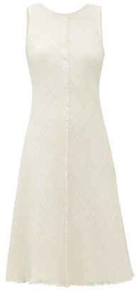 ODYSSEE Marlin Frayed-hem Cotton-blend Tweed Dress - Ivory
