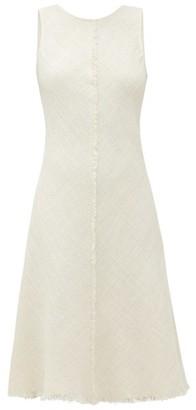 Odyssee - Marlin Frayed-hem Cotton-blend Tweed Dress - Womens - Ivory