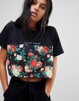 Criminal Damage Onnia Crop T Shirt in Half Print