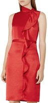 Reiss Lola Ruffled Satin Dress