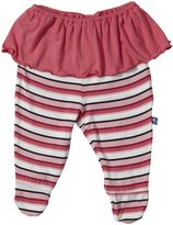Kickee Pants Print Footed Pant w/ Skirt (Baby) - Winter Rose St-3-6 Months